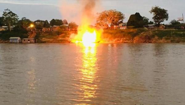 ACRE: Embarcação explode e deixa 18 pessoas em estado grave, entre elas mãe e bebê