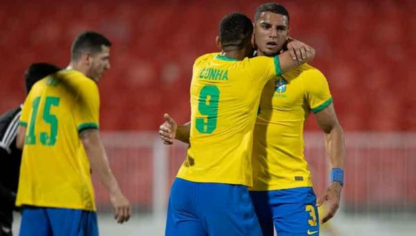 Brasil passa susto, mas goleia Emirados no último jogo antes das Olimpíadas
