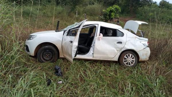 Capotamento deixa um morto e dois feridos na TO-080; bebê de cinco meses é uma das vítimas