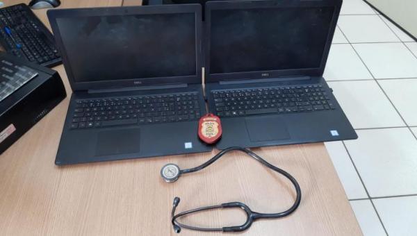 Computadores e aparelho hospitalar furtados são recuperados em Araguaína