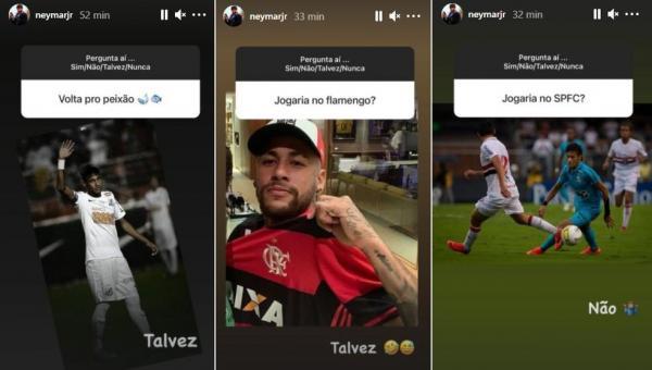 ESPORTE: Neymar deixa portas abertas para Santos e Flamengo, mas diz que não jogaria no São Paulo