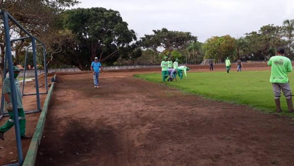 Estádio Bodão passa por pequenos reparos e manutenções em Presidente Kennedy