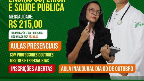 Fabic Ananás abre inscrições para pós-graduação em Docência do Ensino Superior e Saúde Pública
