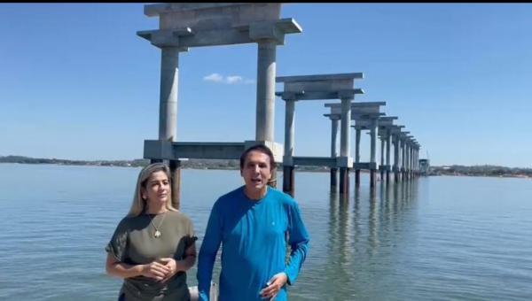 Gaguim visita obra da Ponte que liga Xambioá a São Geraldo no Pará e destaca trabalho de parceria com Eduardo Gomes