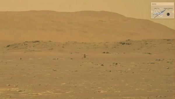 Ingenuity: helicóptero faz voo histórico na superfície de Marte