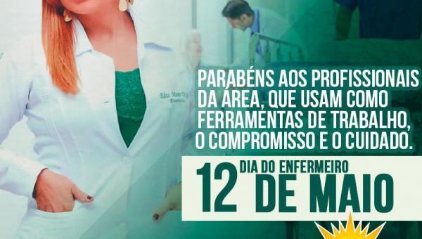 Prefeito Alessandro Borges destaca atuação de enfermeiros neste dia 12 de maio
