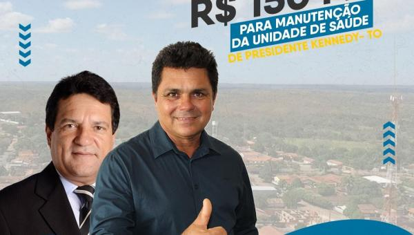 Prefeito Batista Cavalcante agradece emenda parlamentar de Osires Damaso para Presidente Kennedy