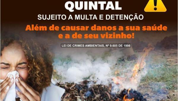 Prefeitura alerta para o risco de queimadas e incêndios em Piraquê