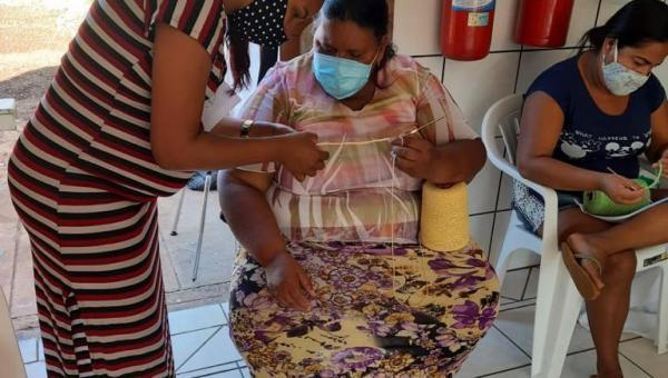 Prefeitura de Arapoema realiza curso de artesanato para mulheres