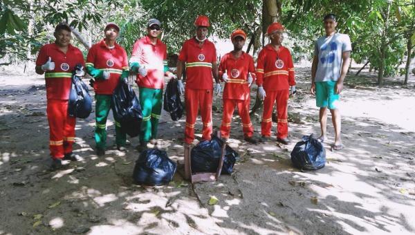 Prefeitura de Cachoeirinha realiza limpeza de Córrego com apoio de Brigadistas