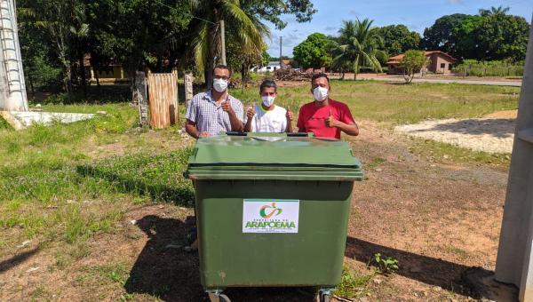 ARAPOEMA: Prefeitura instala contêiner de lixo nos Povoados Zé Preto e Km 19