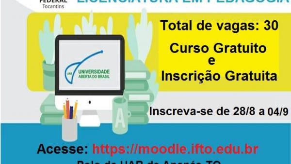 EDUCAÇÃO A DISTÂNCIA: inscrições para o vestibular da IFTO começam nesta quarta-feira (28)
