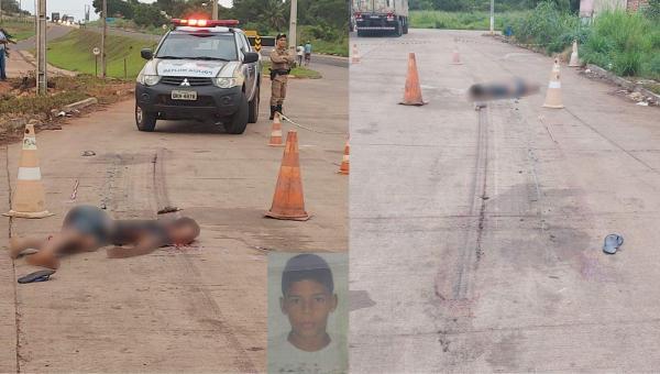 Em Aguiarnópolis, jovem de 18 anos entra para debaixo de caminhão prancha para dormir e morre atropelado