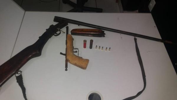 OPERAÇÃO BOAS FESTAS: Suspeito de homicídio é preso e armas são apreendidas durante operação policial