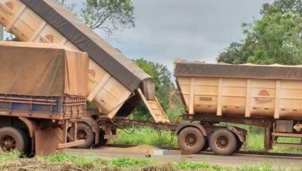PALMEIRANTE:  caminhão ficou enroscado em um fio de alta tensão, motorista morreu eletrocutado  na hora