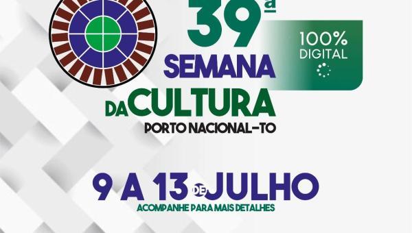 Porto Nacional irá realizar 39ª Semana da Cultura e 3ª Flip totalmente digital
