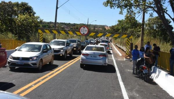 PORTO NACIONAL:Ponte tem trânsito interrompido para avaliação da estrutura