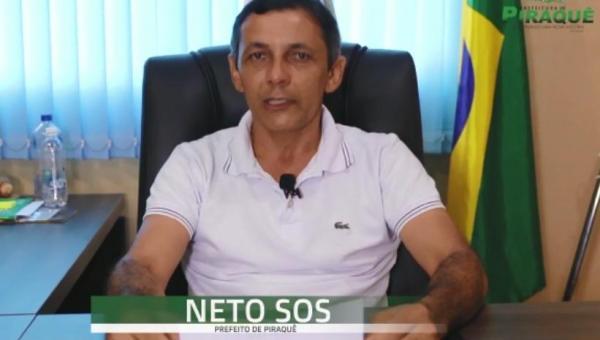 Prefeito de Piraquê Neto SOS diz ter recebido prefeitura com dificuldades