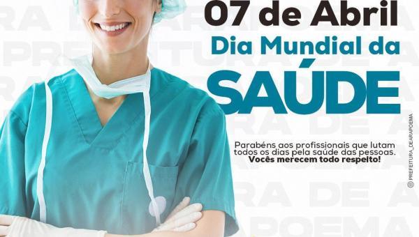 Prefeitura de Arapoema parabeniza profissionais da saúde pelo seu dia
