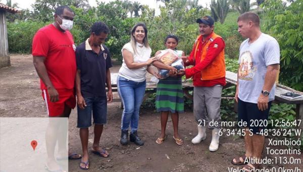 Prefeitura de Xambioá dá apoio aos atingidos pelas cheias dos Rios Corda e Lontra