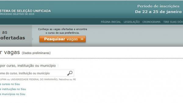 Sisu oferta mais de 1,6 mil vagas para universidades públicas no Tocantins