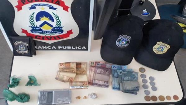 TOCANTINS: Polícia Civil desarticula ponto de venda de drogas e prende dois suspeitos por tráfico em Miracema