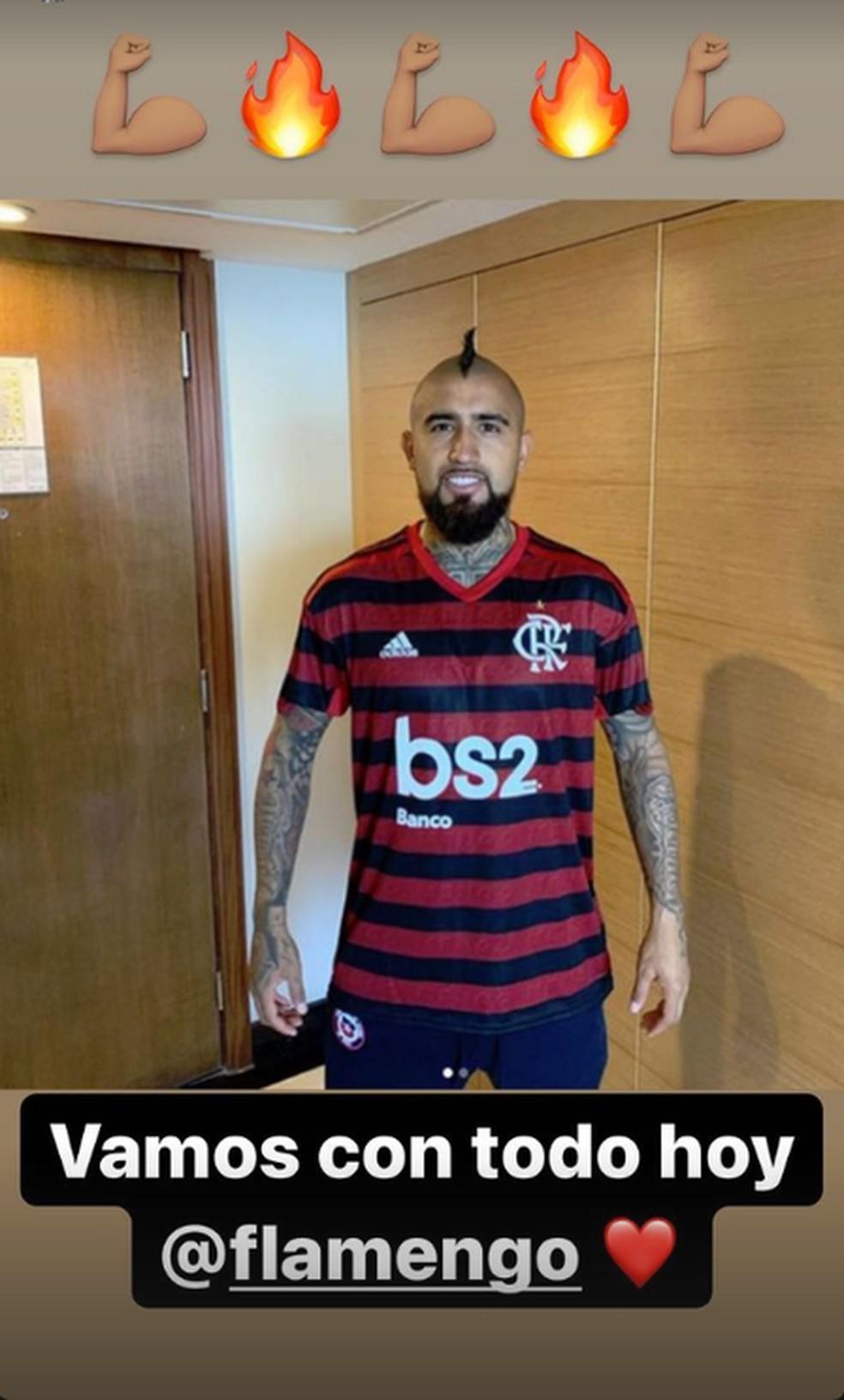 Com Vidal, seleção do Chile vai treinar no CT do Flamengo durante a Copa América
