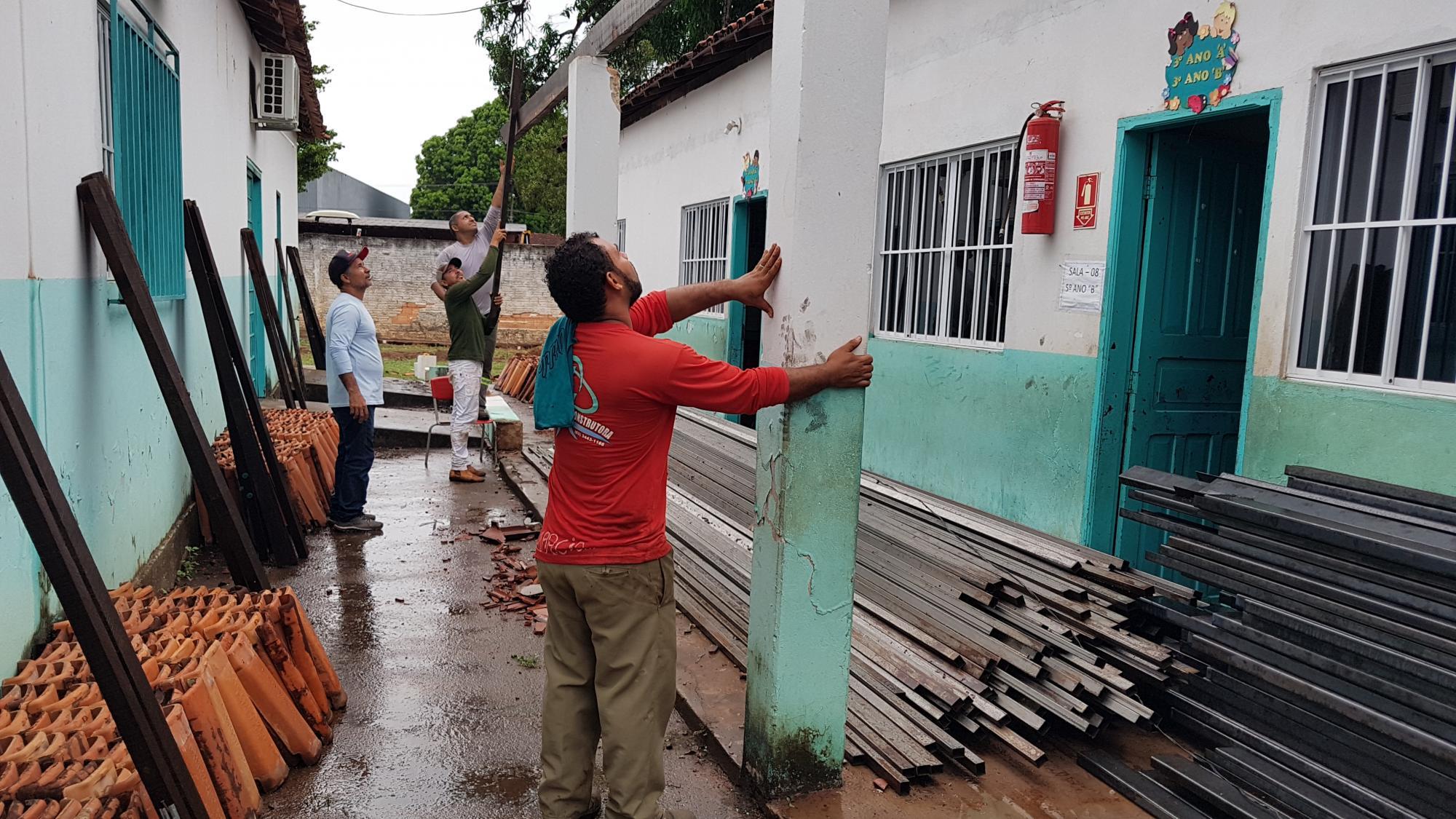 Prefeitura de Ananás inicia reforma da escola municipal João Dias Borges.